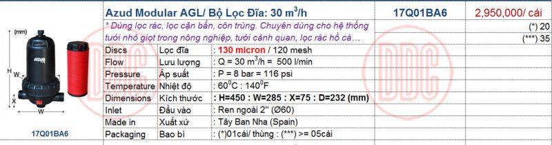 thông số bộ lọc đĩa agl